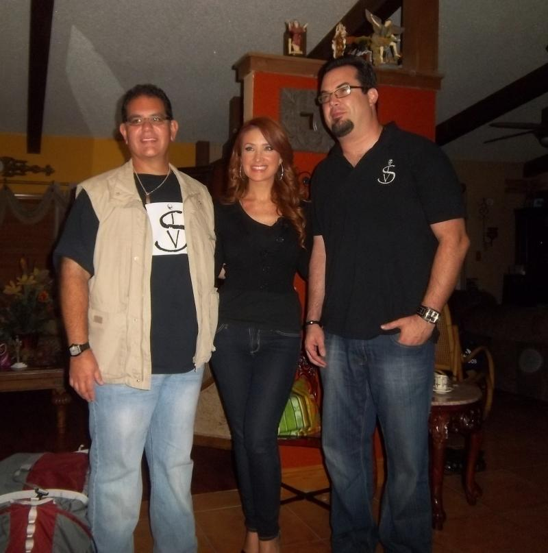 Richard, Telemundo's Mariana Rodriguez, Host of Acceso Total, and Marcos